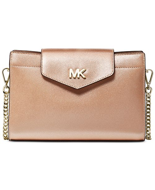a3594990ce98e1 Michael Kors Crossgrain Leather Crossbody Clutch & Reviews ...