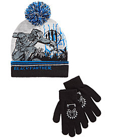 Marvel Little & Big Boys 2-Pc. Black Panther Hat & Gloves Set