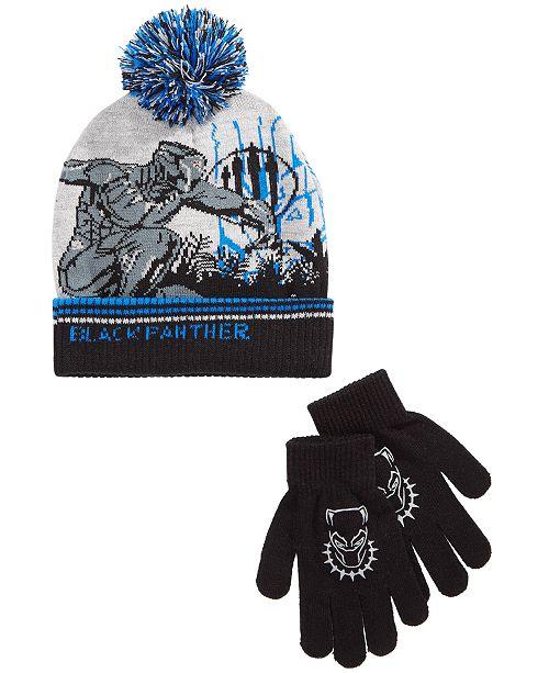 8e7f0ee1 Marvel Little & Big Boys 2-Pc. Black Panther Hat & Gloves Set ...