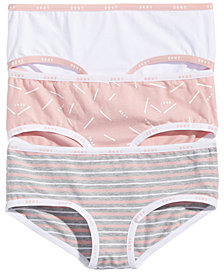 DKNY Little & Big Girls 3-Pk. Hipster Cotton Underwear