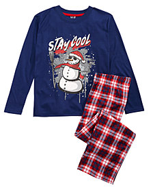 Max & Olivia Big Boys 2-Pc. Stay Cool Pajama Set