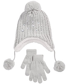 4b6f27dc569 Berkshire Little   Big Girls 2-Pc. Embellished Hat   Gloves Set