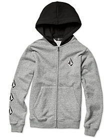 Volcom Big Boys Deadly Stones Zip-Front Hoodie