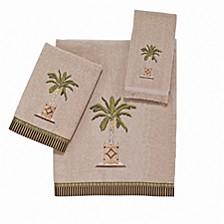 Banana Palm Embroidered Bath Towel
