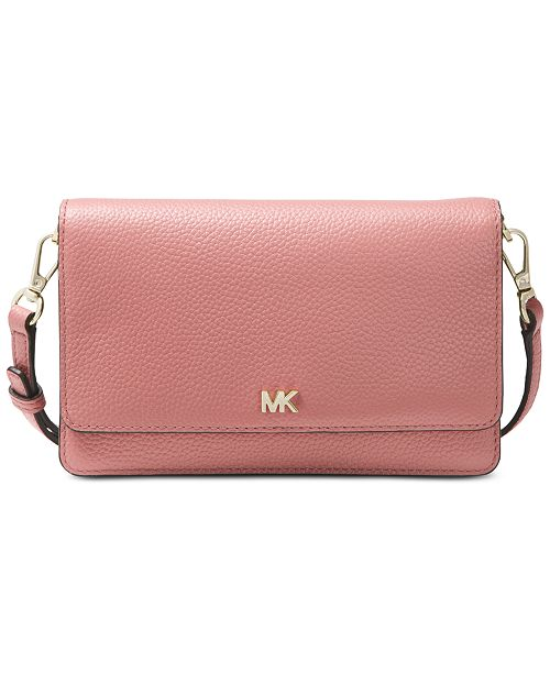 3f7cbbd02bb9 Michael Kors Pebble Leather Phone Crossbody Wallet & Reviews ...