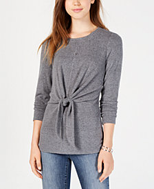 BCX Junior's Knot-Front Sweater