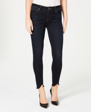 KUT FROM THE KLOTH Connie Frayed Step Hem Ankle Skinny Jeans in Sufficiency