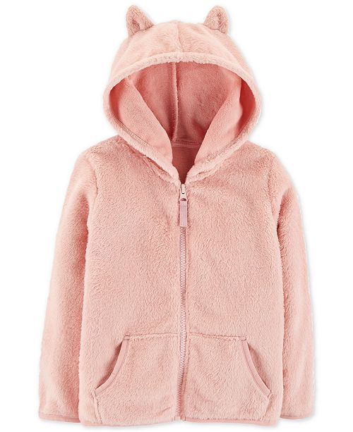 b4f651d707a8 Carter s Toddler Girls Hooded Faux-Sherpa Jacket   Reviews - Coats ...