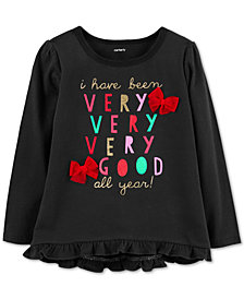 Carter's Toddler Girls Good-Print Cotton T-Shirt