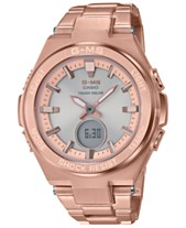 G-Shock Women s Solar Analog-Digital Rose Gold-Tone Stainless Steel  Bracelet Watch aa9bf789e5