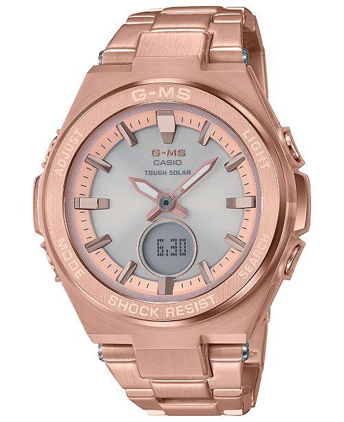 bd825b71 Women's Solar Analog-Digital Rose Gold-Tone Stainless Steel Bracelet Watch  38.4mm