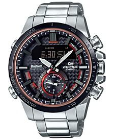 Men's Solar Analog-Digital Stainless Steel Bracelet Watch 49.2mm