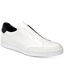Calvin Klein Men's Immanuel Leather Slip-On Sneakers
