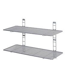 2 Tier Heavy Duty Wall Mount Floating Steel Wire Mesh Storage Shelves