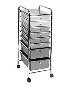 8 Drawer Storage Bin Organizer Cart