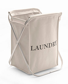 Aluminum X Frame Folding Laundry Hamper with Removable Canvas Bin