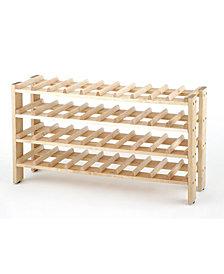 40 Bottle Solid Wood Wine Rack