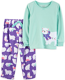 Carter's Toddler Girls 2-Pc. Polar Bear Pajama Set
