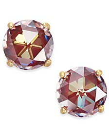 14k Gold-Plated Crystal Stud Earrings