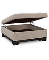 Admirable Tan Beige Storage Ottoman Macys Inzonedesignstudio Interior Chair Design Inzonedesignstudiocom