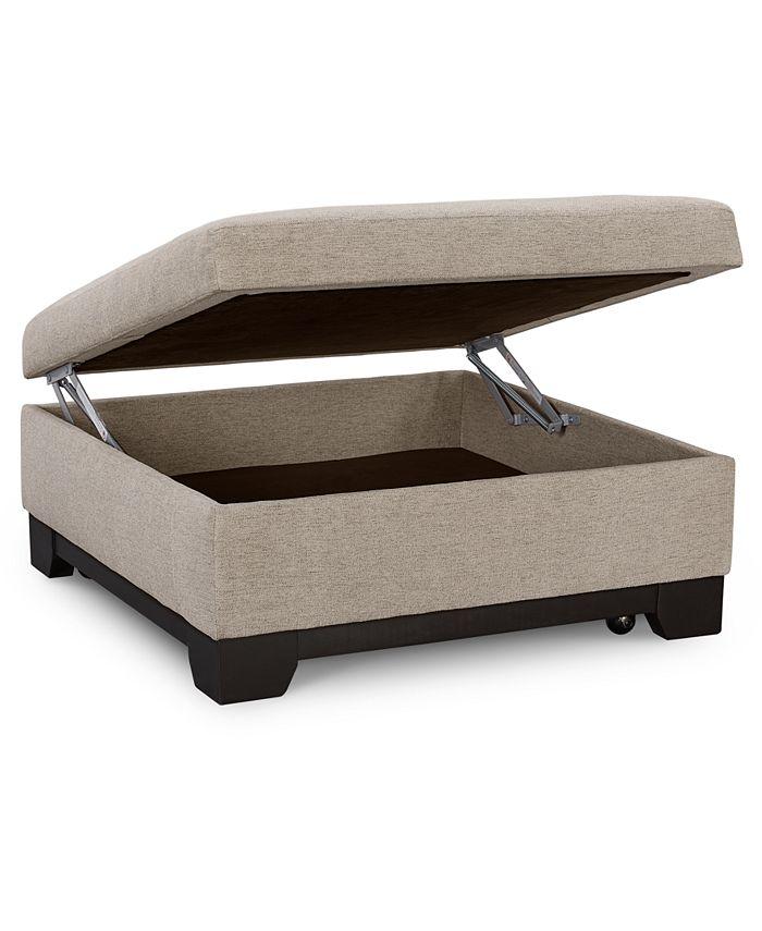 "Furniture - Elliot II 36"" Square Storage Ottoman"