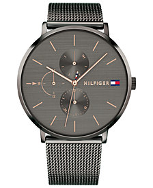 Tommy Hilfiger Women's Gunmetal Stainless Steel Mesh Bracelet Watch 40mm Created for Macy's