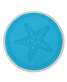 Starfish Round Turkish Cotton Beach Towel