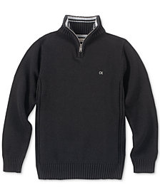 Calvin Klein Big Boys Scalar Quarter-Zip Sweater