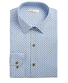 Bar III Men's Classic/Regular Fit Stretch End On End Pine Dress Shirt, Created for Macy's