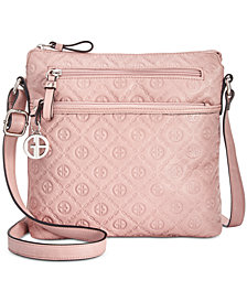 Giani Bernini Embossed Logo Crossbody, Created for Macy's