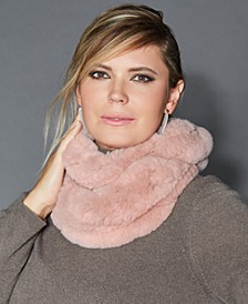 Knitted Rabbit Fur Infinity Scarf