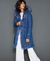 The Fur Vault Fox Lamb   Rabbit Fur-Trim Denim Parka 81b306216