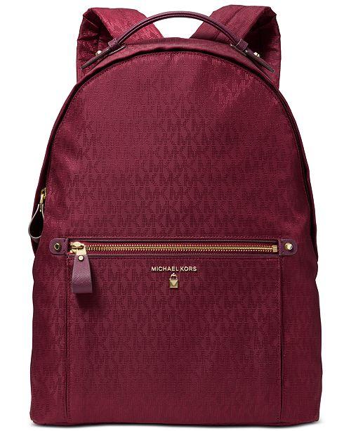 2849b48150ebc6 Michael Kors Nylon Kelsey Signature Backpack & Reviews - Handbags ...