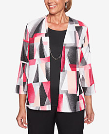 Alfred Dunner Finishing Touches Layered-Look Stained Glass Top