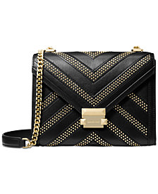 MICHAEL Michael Kors Whitney Chevron Studded Shoulder Bag