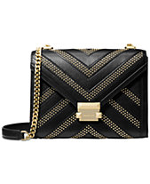 MICHAEL Michael Kors Whitney Chevron Studded Shoulder Bag 654c177da5