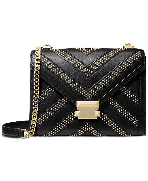 bb6e6e01e386 Michael Kors Whitney Chevron Studded Shoulder Bag   Reviews ...