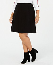 Plus Size Sweater A-Line Skirt, Created for Macy's