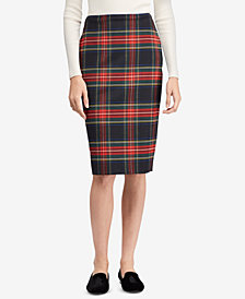 Lauren Ralph Lauren Tartan Checked Pencil Skirt