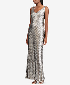 Lauren Ralph Lauren Sequin Evening Gown