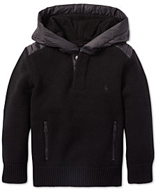 Polo Ralph Lauren Little Boys Hybrid Hooded Sweater
