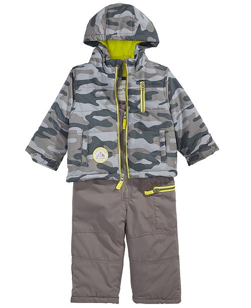 f5e6a489f90c Carter s Baby Boys Hooded Camouflage Snowsuit   Reviews - Coats ...