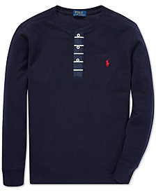 Polo Ralph Lauren Big Boys Mesh Cotton Henley Shirt