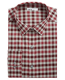 Bar III Men's Slim-Fit Stretch Bold Heather Gingham Dress Shirt, Created for Macy's