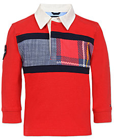 Tommy Hilfiger Baby Boys Cotton Rugby Shirt, Created for Macy's