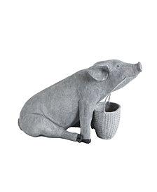 3R Studio Resin Pig with Basket