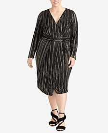 RACHEL Rachel Roy Plus Size Faux-Wrap Dress