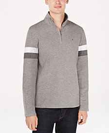 Calvin Klein Men's Striped Sleeve Pullover Sweater