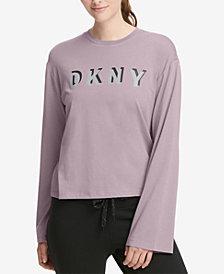 DKNY Sport Relaxed Logo Bell-Sleeve T-Shirt