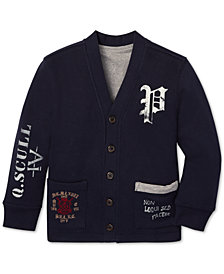 Polo Ralph Lauren Little Boys Reversible Fleece Cardigan